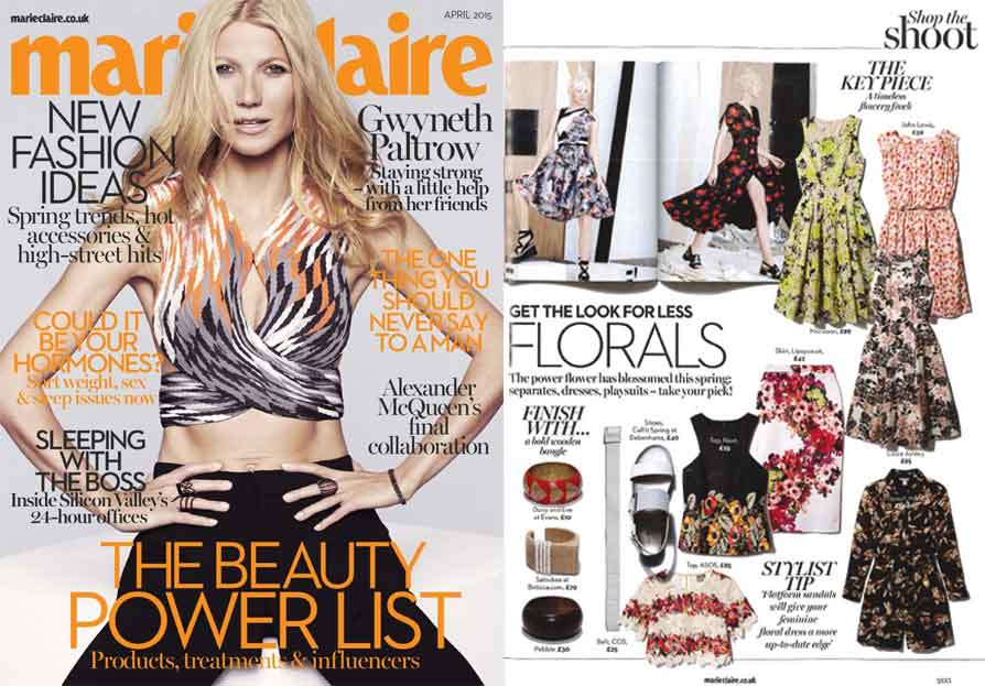 Marie Claire Magazine - Saloukee Jewellery Feature