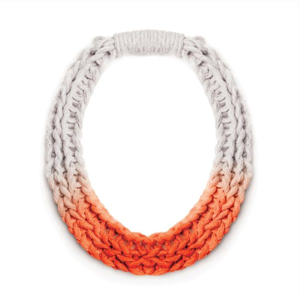 Chunky Jewellery Saloukee Purls Necklace Orange