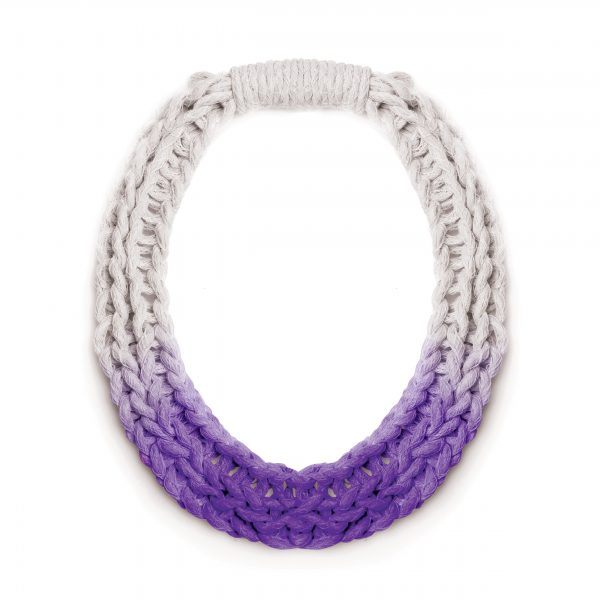 Chunky Jewellery Saloukee Purls Necklace Purple