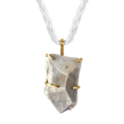 Handmade Natural Jewellery Handcrafted Necklace Agny Rock by Saloukee Close Up Front