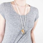 Handmade Timeless Jewellery Handcrafted Necklace Arla Rock by Saloukee Front View