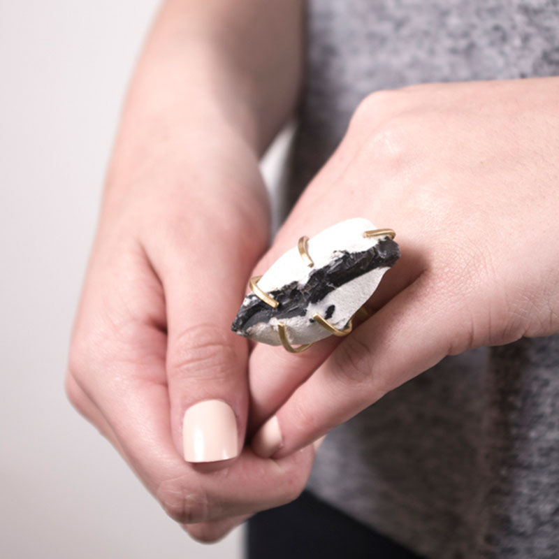 Handmade Artisan Jewellery Handcrafted Ring Enid Rock by Saloukee Lifestyle