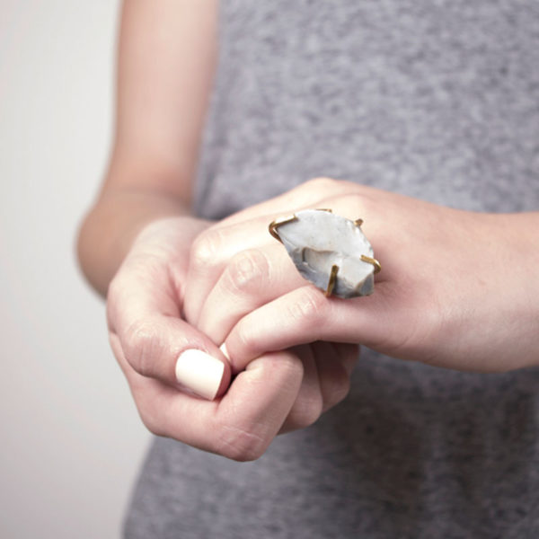 Handmade Stone Jewellery Handcrafted Ring Etta Rock by Saloukee Lifestyle