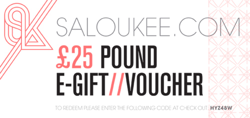 Handmade Jewellery Gift Voucher by Saloukee £25