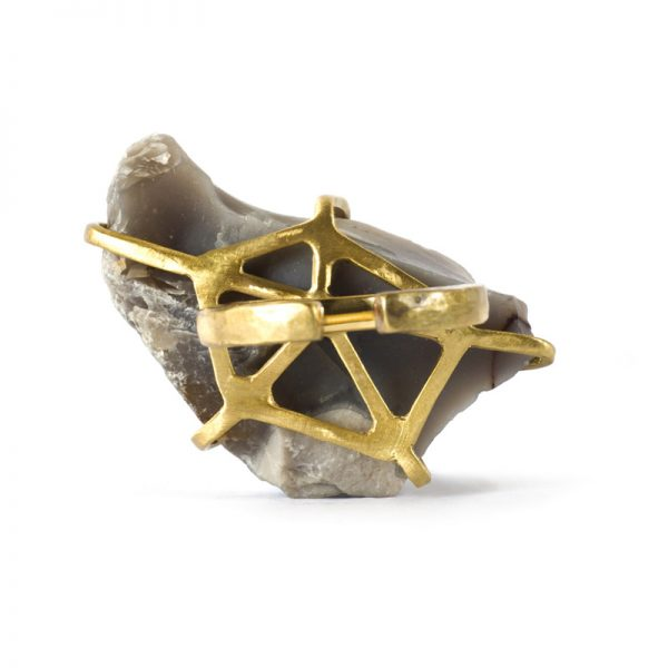 Handmade Limited Edition Jewellery Handcrafted Ring Ela Rock by Saloukee Bottom View