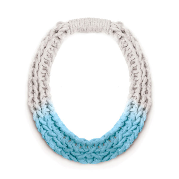 Woven Jewellery Saloukee Purls Necklace Pastel Blue