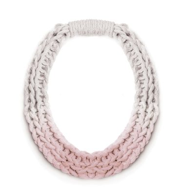 Woven Jewellery Saloukee Purls Necklace Pastel Pink