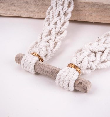 knotted beach necklace driftwood