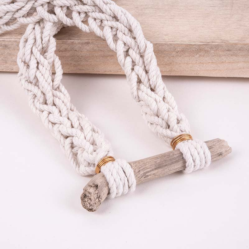 knotted rope necklace handmade