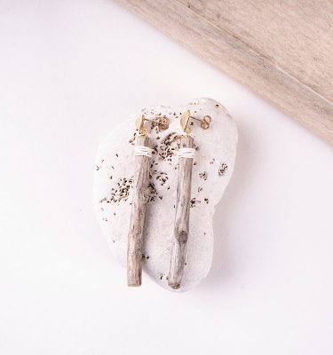 long driftwood earrings beach