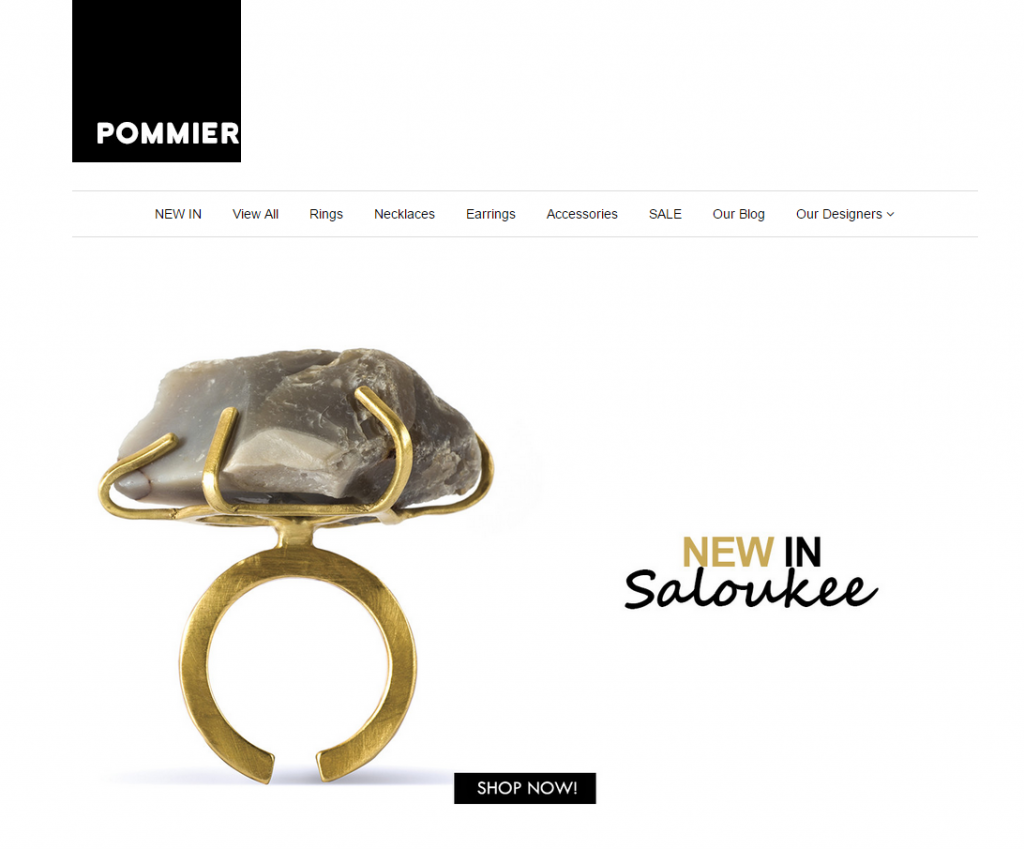 An Independent Online Jewellery Platform - Pommier