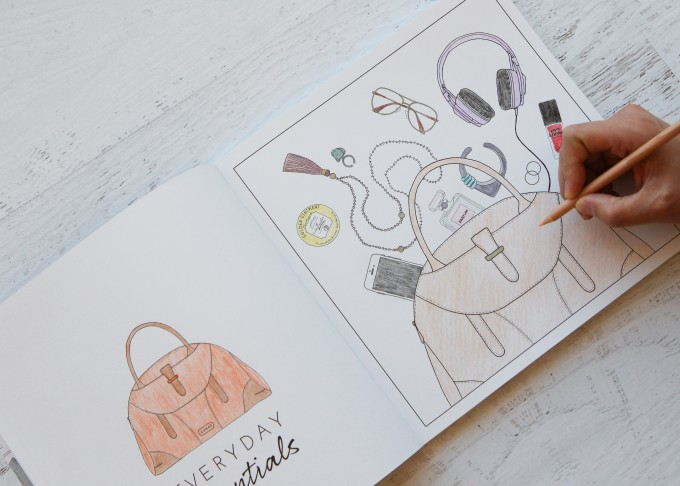 Outfit Of The Day Colouring Book - Inside