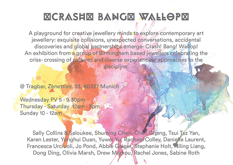 Crash Bang Wallop Exhibiton Invite
