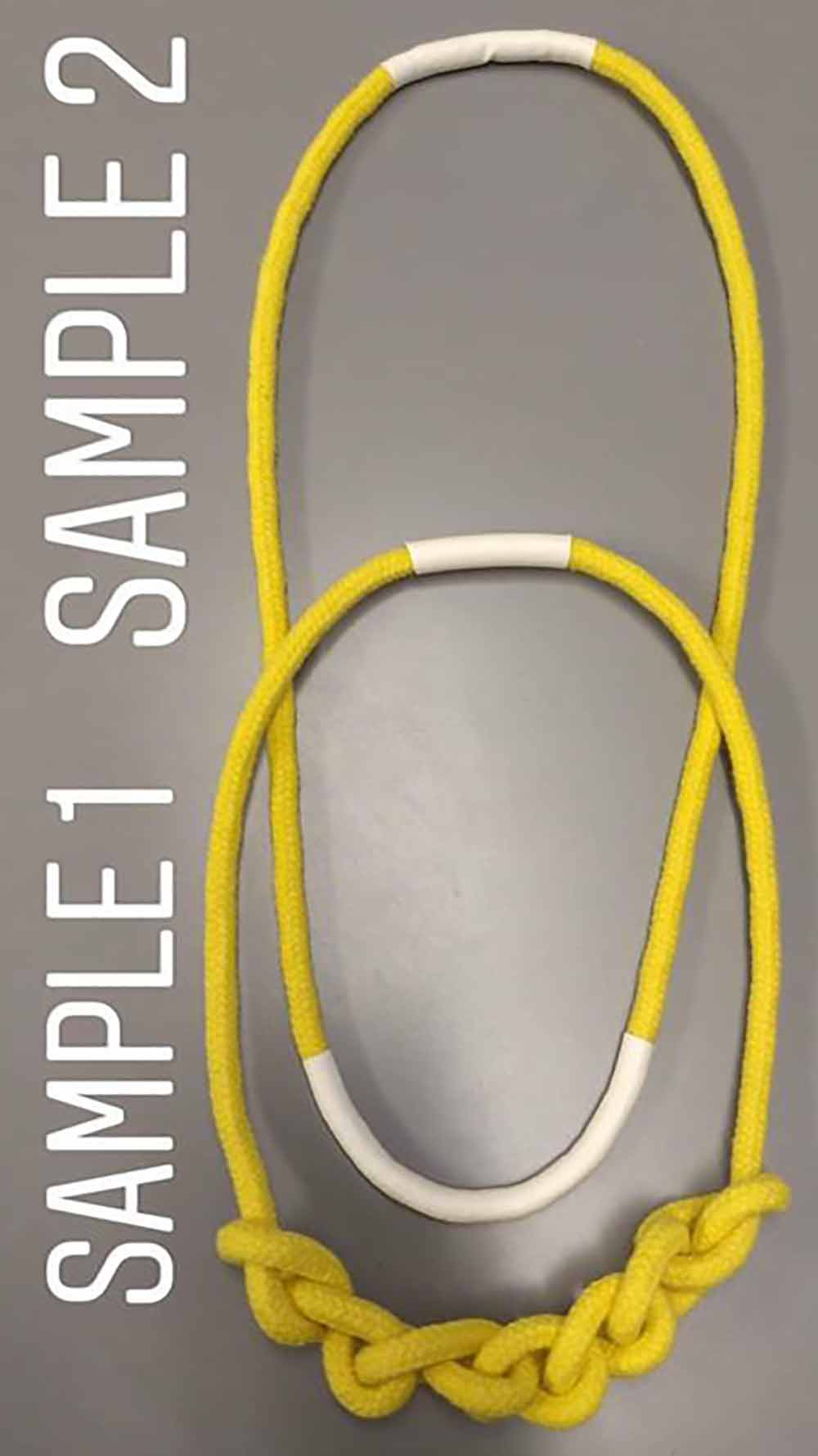 Cotton Rope Necklace Yellow