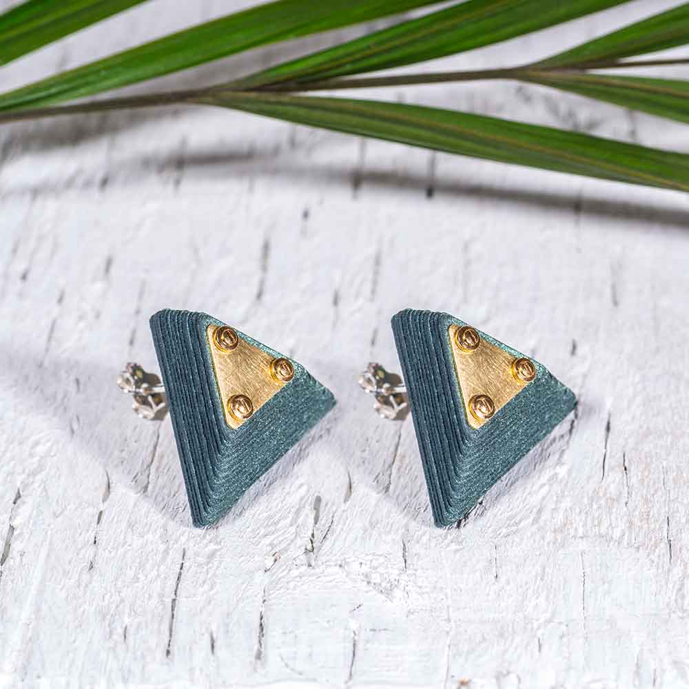 Paper Jewelry Green Earrings