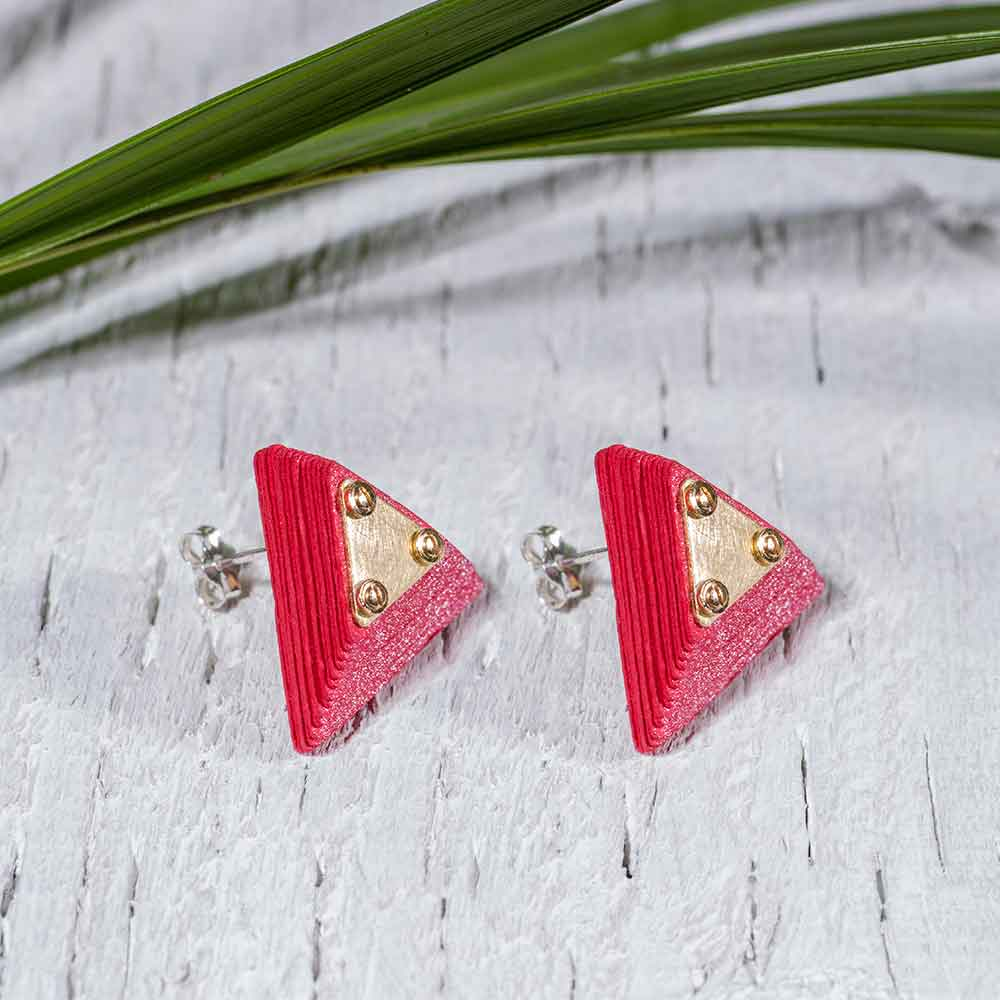 Paper Jewelry Red Earrings