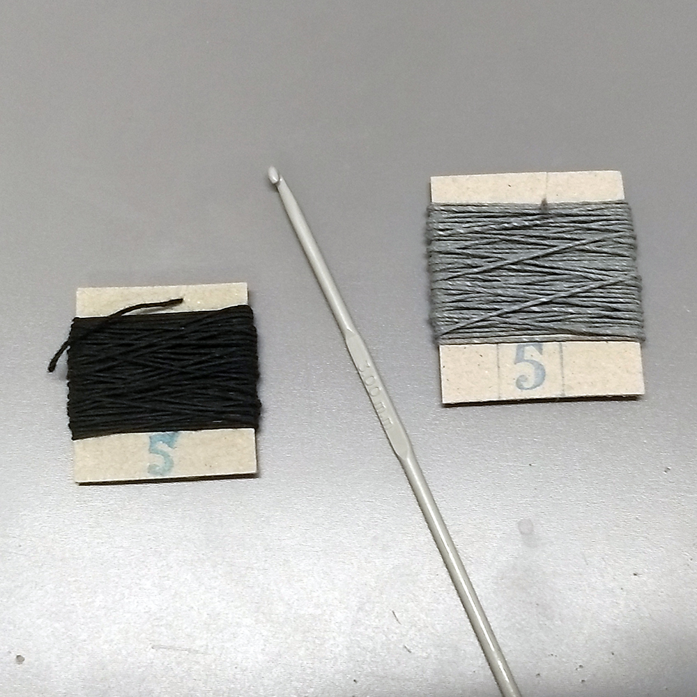 Linen earrings made with thread