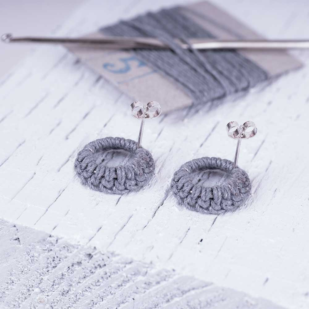 Linen earrings made in the UK