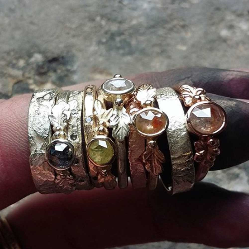 UK Made Ethical Jewellery Gold Rings