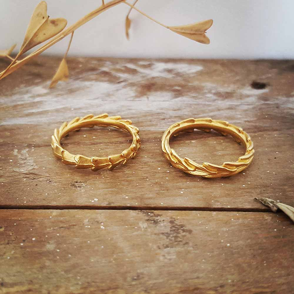 Tin Jewellery Gold Rings