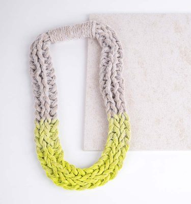 Neon Yellow Woven Jewellery