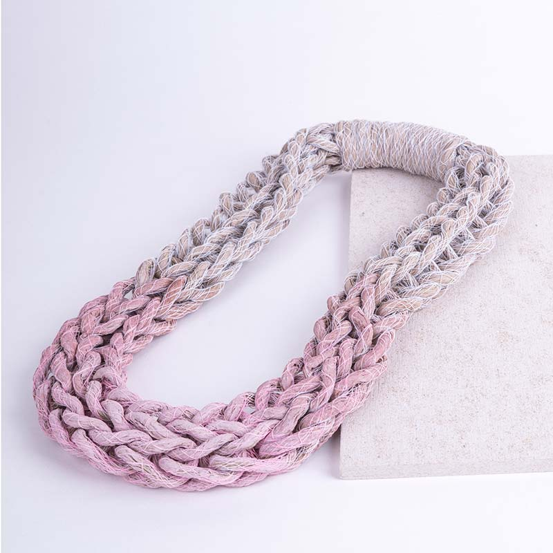 Pastel Pink Woven Jewellery Statement