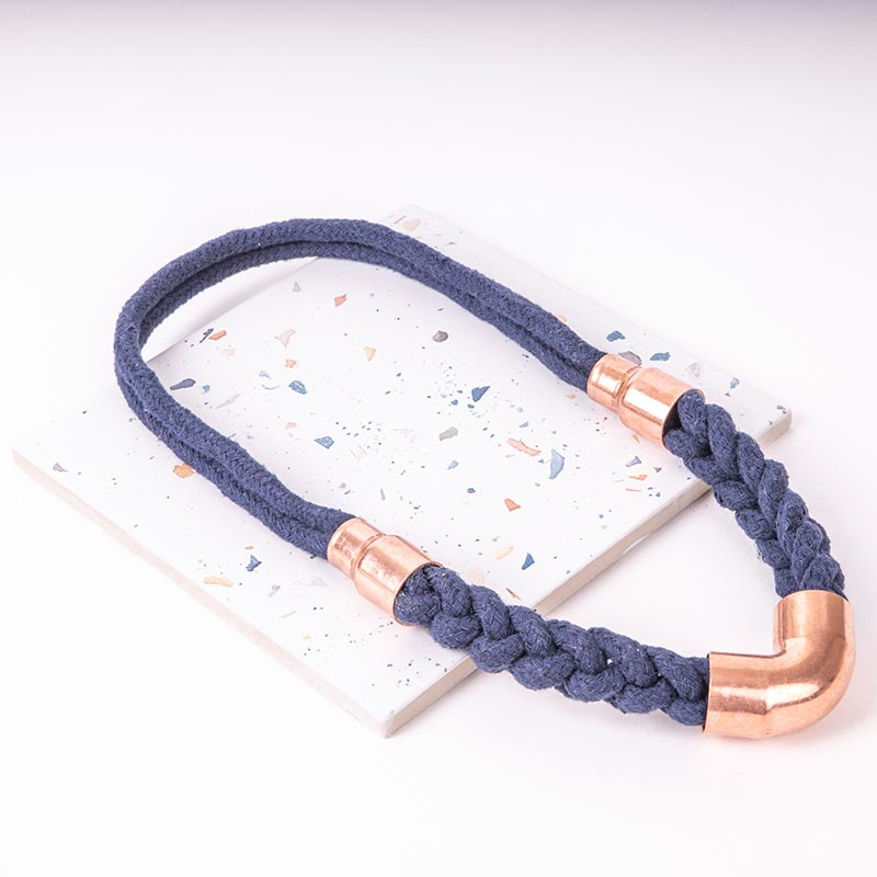 Blue Woven Statement Necklace