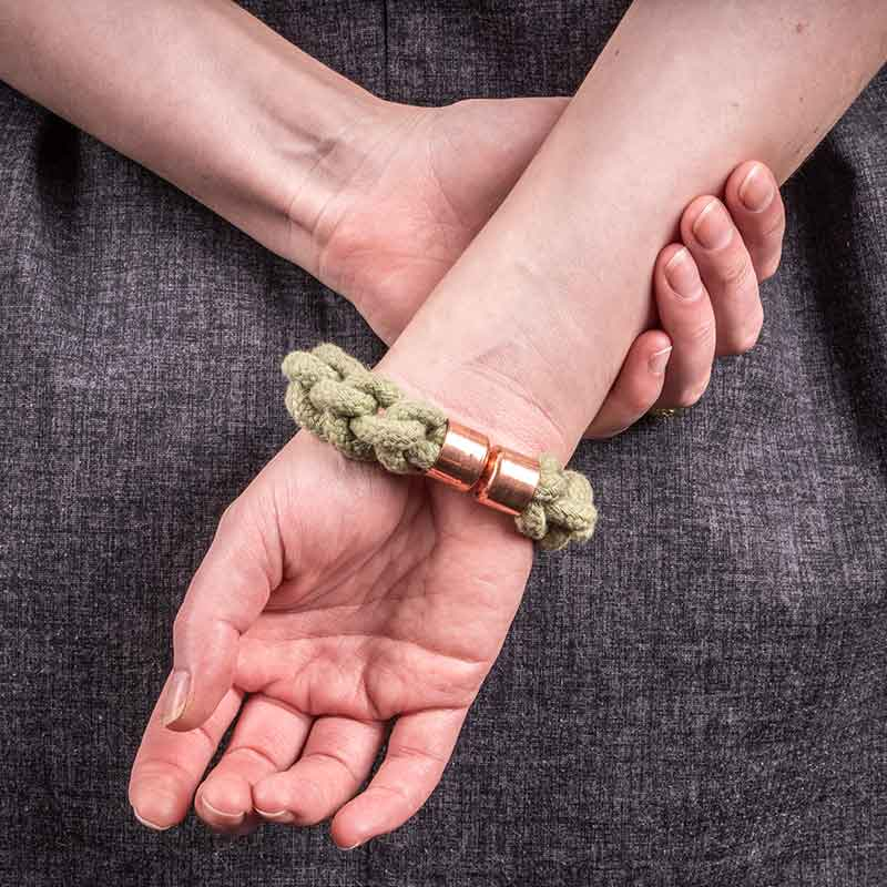 Green Cotton Rope Bracelet