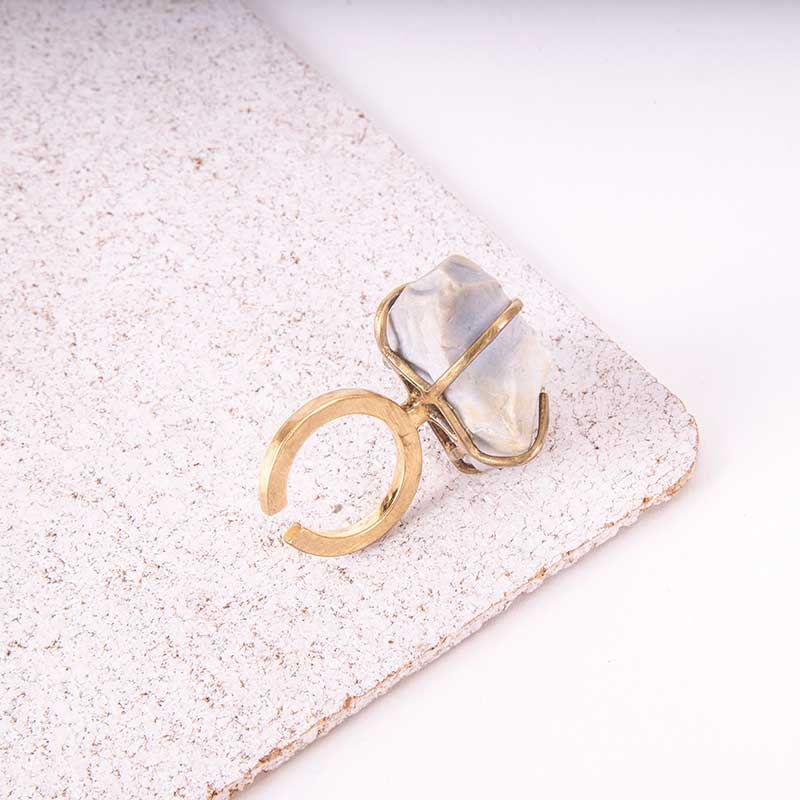 Raw Stone Gold Ring