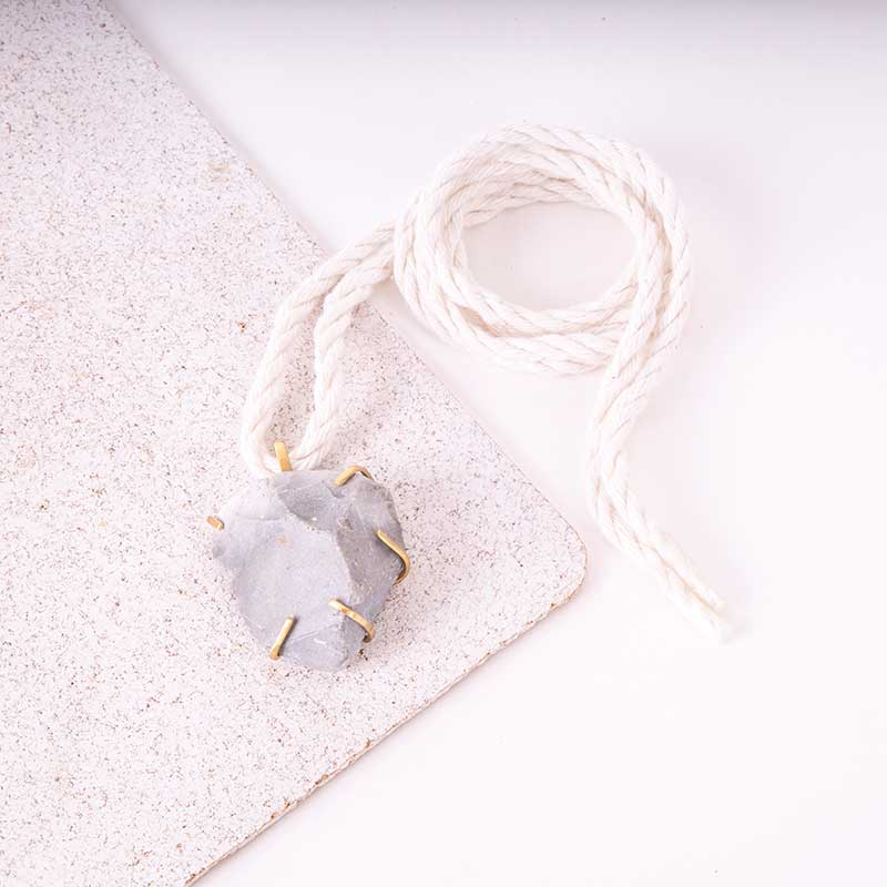 Raw Stone Rock Necklace
