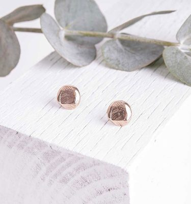 Bronze Handmade Earrings Studs