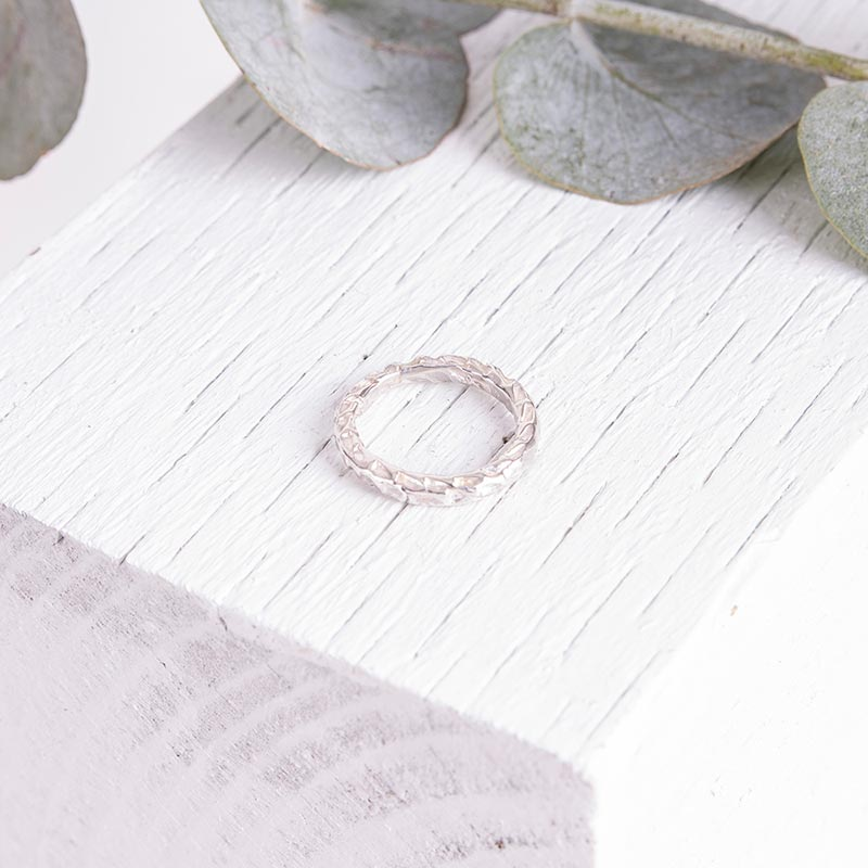 Organic Jewellery Silver Textured Ring