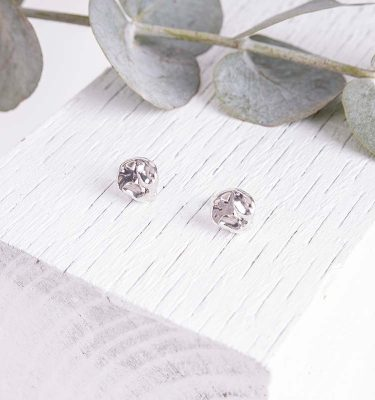 Organic Silver Earrings Delicate