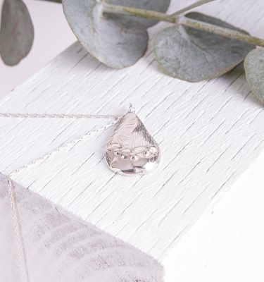 Organic Silver Necklace Handmade