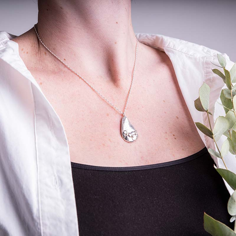 Organic Silver Necklace