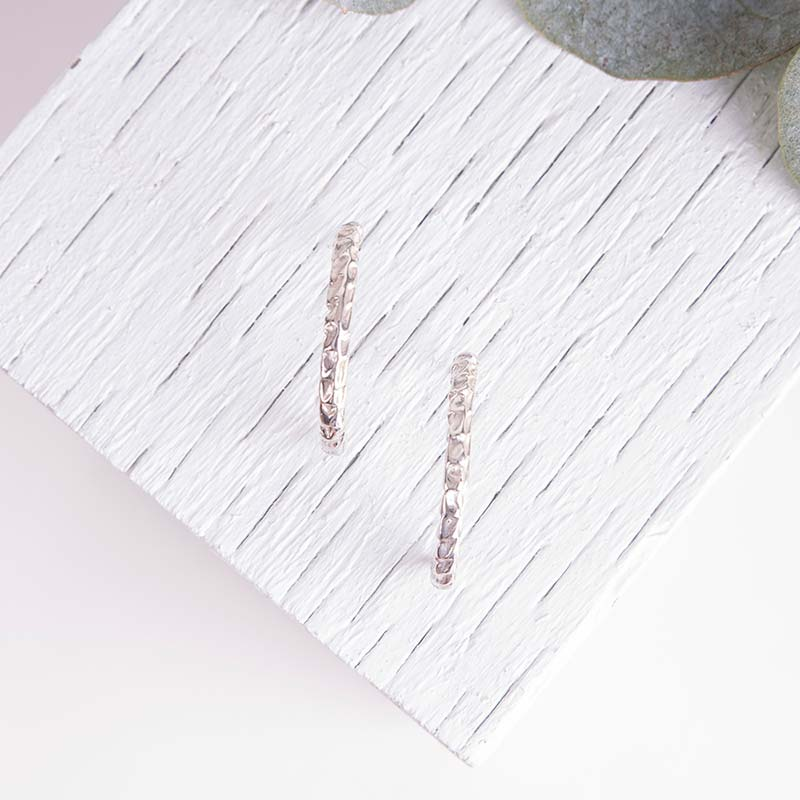 Organic Textured Hoops Earrings