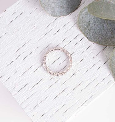 Organic Textured Ring Silver