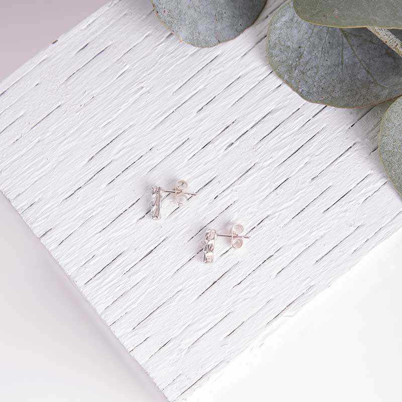 Organic Textured Studs Delicate