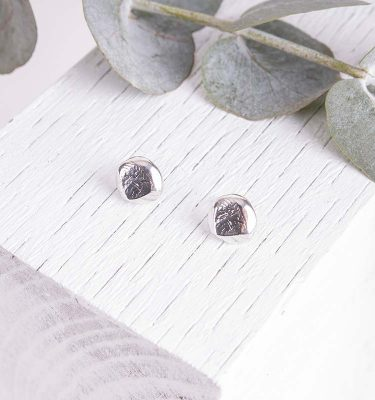 Silver Organic Earrings Handmade