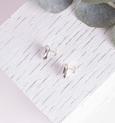 Silver Organic Earrings Saloukee