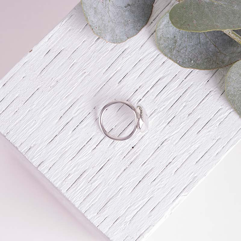 Silver Organic Ring Handcrafted