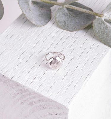 Silver Organic Ring By Handmade